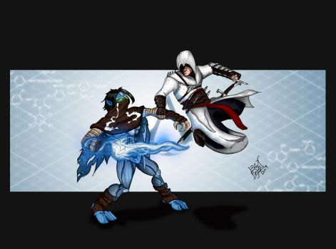 Raziel vs Altair by LloydBridgeman