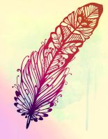 Feather Tattoo by MayhemHere