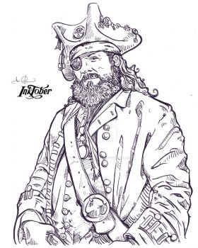 inktober | 20171024 | Blind - Pirate Linework by CarterPhotography