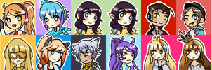 Vocaloid(/UTAU) icon wall?? by Roenais