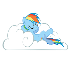 Rainbow Dash on cloud by jerry411
