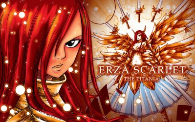 Erza the Titania WP by Hallucination-Walker
