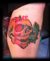 Tattoo skull colored by WillemXSM
