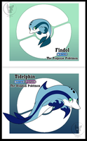 Findol and Tidelphin (Fakemon #2) by BlueSideArts