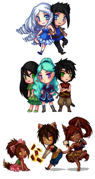 Family Love Chibis by Silver-Day