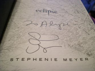 Signed Eclipse Book by rednotes