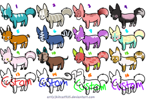 Wolf Adopts--Last two rows-5 pts each! by SammyslionAdopts