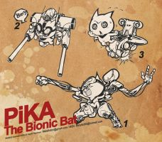 Pika-the bionic bat by metalkid