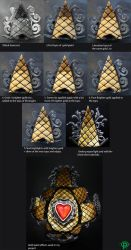 Gold paint effect tutorial by osiskars