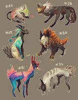 [closed] Adoptables 27 - 32 by HJeojeo