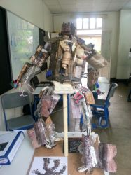 Dark of the Moon Megatron Sculpture back view by JMK-Prime