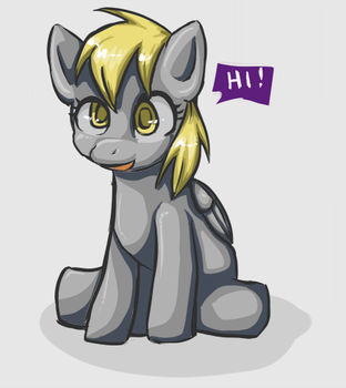 Hey there, Derpy by first-blush