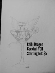 Chibi DRAGON Cocktail YCH by Dodgesmiley