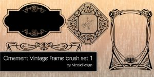 Ornament vintage frame brush set 1 by noema-13