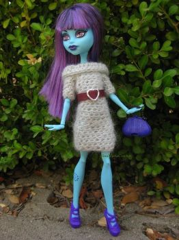 Grey crocheted sweater dress by crazynina