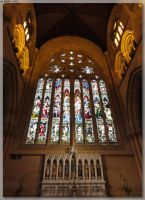 St Mary's Cathedral - Big Window by JohnK222