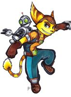 Commission: Ratchet and Clank by Smudgeandfrank