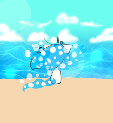 Aqua and the Beach by TheJewelKitty