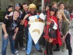 Jaune and Ruby with RWBY Cast And Crew II by R-Legend