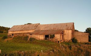 An Old Barn at Sunset by JocelyneR