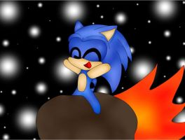 Cute Sonic Can Fly by Shadowfirering