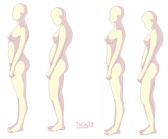 Good VS Bad Posture - FEMALE - Relistic + Anime by thecity2011