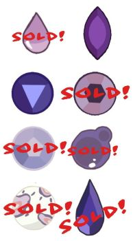 REDUCED PRICE! Purple Gem Mystery Adopts (2 LEFT) by MeIodrama