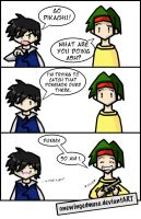 PKMN: Hunting Comic by OneWingedMuse