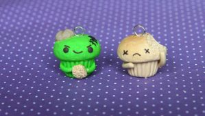 Zombie Cupcake Clay Charm (video tutorial) by xoxRufus