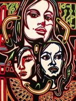 THREE IS THE MAGIC NUMBER CROP by L-A-K-ART