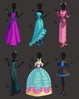 Misc. Dress Design Adoptables 1 by PrettieAngel