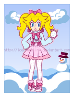 Winter Dress Peach by IceCreamLink
