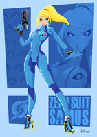 Zero Suit Samus - Super Smash Bros. Tribute by RobsonG