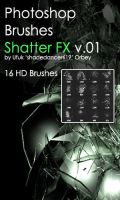 Shades ShatterFX v.01 HD Photoshop Brushes by shadedancer619
