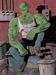Savage Dragon Color by JakeSmithArt