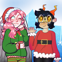 happy lil christmas collab with staralaxy ! by radshiba