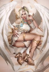 Mercy. Winged Victory by clayscence