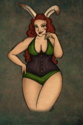 Bunnygirl Pin Up commission by EmiliAlys