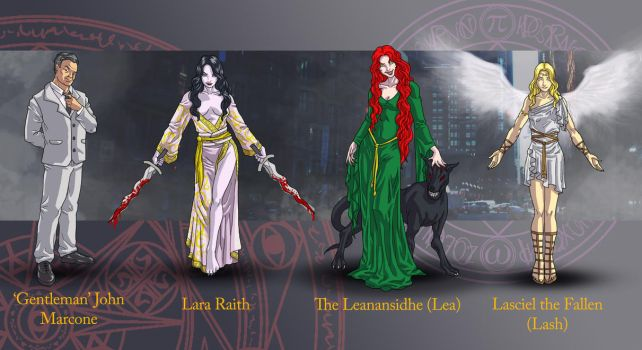 Dresden Files characters 2 by wildcard24
