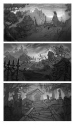 Location sketches by Okha