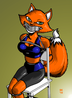 Restrained Roxy by GrouchoM