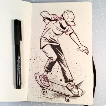 Inktober Day 8 - CROOKED by D-MAC