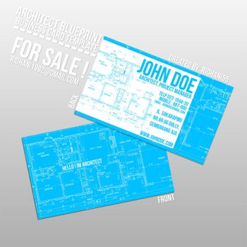 Architech Blueprint Style Business card by ridhani55