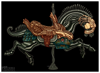 Pop Culture Carousel Project- Alien Horse by killskerry