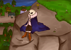 Undertale [TRADE]  - Relaxed by Returnmemory