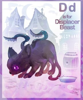 D is for Displacer Beast by Nezart