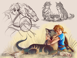 BotW doodles by Makirou