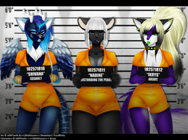 Collab: Bad Bitches Line Up by x-LittleKitsune-x