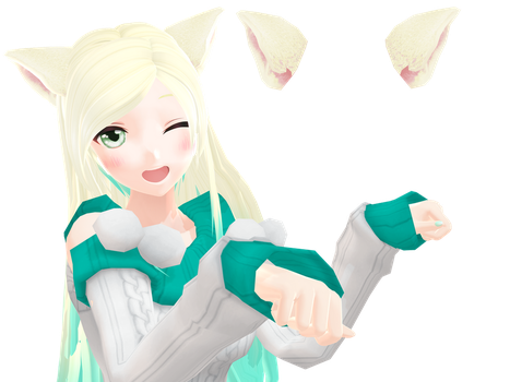 Rigged Cat Ears DL by Starlight-Enterprise