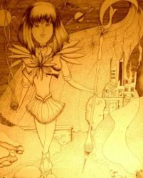 Sailor Saturn Drawing for Hubby by mertonparrish